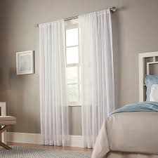 allen + roth L-inmere 95-in White Polyester Rod Pocket Sheer Single Curtain