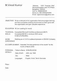 Resume Format For Call Center Job For Fresher