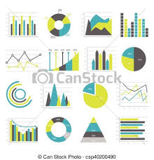 Different Types Of Charts And Graphs Graphs Flat Icons Set