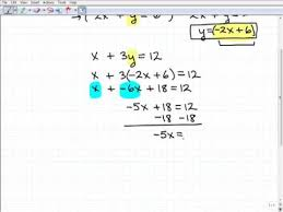 solving linear systems substitution