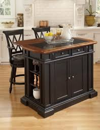 Small Island Kitchen Kitchen Mission Kitchen Island With Breakfast Counter In Black