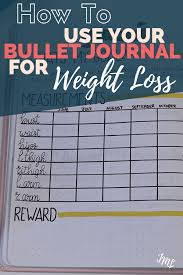 How To Use Your Bullet Journal For Weight Loss Journaling