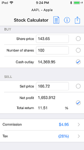 Stock Calculator For Ios Iphone Ipad And Ipod Touch