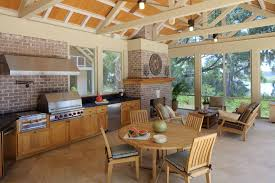 ultimate outdoor kitchen living area