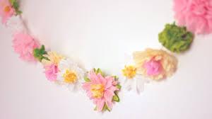 White Paper Flower Garland Diy Paper Flower Garland Cute Happy Home Decor Ideas Youtube