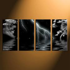 >4 piece canvas wall art ocean photo canvas black and white sea  4 piece wall art home decor ocean artwork gray ocean pictures ocean canvas