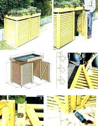 garbage can fence outdoor trash storage enclosure outside best cans cover small fe hide garbage cans