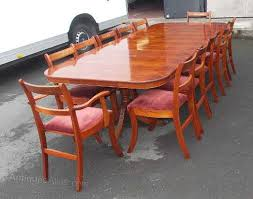 10ft walnut dining table and set 12 chairs antique 10 seater
