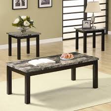3pc nut brown coffee table set