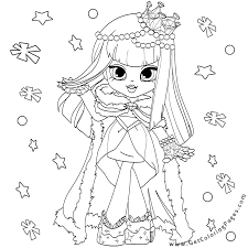 Small Picture Christmas Shopkins Doll Coloring Pages Get Coloring Pages