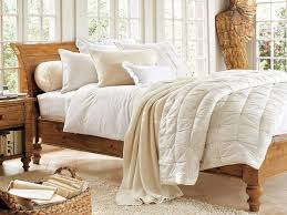 Bedroom: Pottery Barn Bedroom Furniture Elegant Ashby Sleigh Bed Rustic  Pine Finish Traditional - Luxury