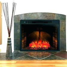 electric logs with heater fireplace insert home depot