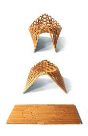 nature inspired furniture. natural wood geometric nature inspired inventive rising furniture robert van embricqs