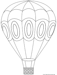 Millions customers found balloon printable templates &image for graphic design on pikbest. Printable Hot Air Balloon Coloring Book Pages For Kids Hot Air Balloons Art Hot Air Balloon Craft Balloon Template