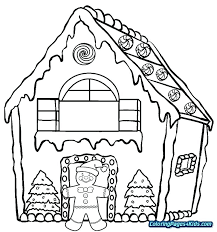 Gingerbread Coloring Gingerbread House Coloring Pages Jaw Dropping