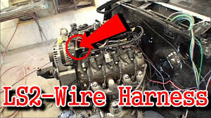 ls2 engine swap part 6 installing the wire harness youtube LS Swap Wiring Diagram at Ls2 Wiring Harness Conversion