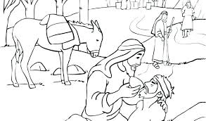 Coloring Pages Good Samaritan Coloring Page Lds The Parable Of