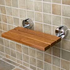 Fold Up Shelf Teak Modern Folding Shower Seat Bathroom