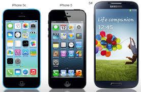 iphone 5c 5 samsung galaxy s4 size parison