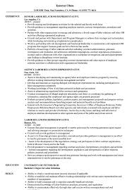 Labor Relations Representative Resume Samples | Velvet Jobs