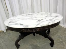antique marble top coffee table mint condition mahogany base victorian