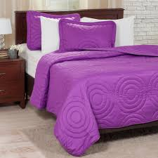 Lavish Home Solid Color Black King Bed Quilt-66-40-K-BL - The Home ... & Embossed Purple Polyester King Quilt Adamdwight.com