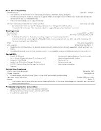 Experience Abroad Resume