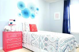 light blue bedrooms for girls. Coral And Light Blue Bedroom Girl Bedrooms For Girls A