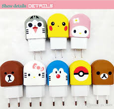 cute cartoon power adapter for cell phone mini famous cartoon anime image silicone case plug usb charger adapter 3d mickey charger converter cell phone
