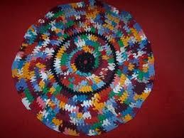 round t shirt rag rug