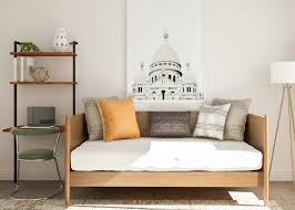 Small office guest room ideas Murphy Bed Guest Room Decorating Ideas For Small Space Modsy Blog Simple Officemeetsguest Room Decorating Ideas Modsy Blog