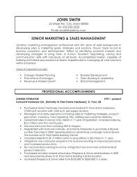 sales manager sample resumes