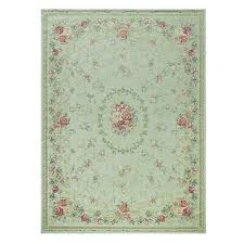 french country traditional oriental chenille green area rug carpet runner mat