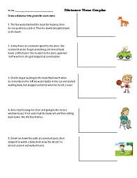 Distance Time Graph Worksheet Make A Graph Based On A Story