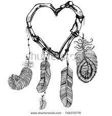Unusual Dream Catchers Dream Catcher Heart Made Bones Hand Stock Vector 100 94