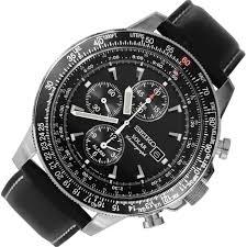 seiko solar chronograph alarm pilot watch ssc009p3 ssc009p ssc009