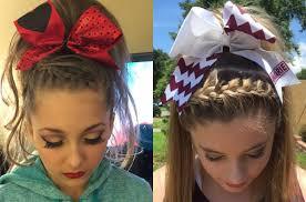 front braids cheer hairstyles