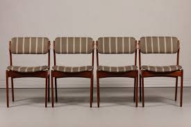 padded dining chairs beautiful erik buch for oddense maskinsnedkeri a s set 4 dining chairs od of