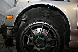found a couple of pic s of chris nsx wheels metal with blue lug s