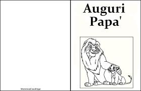 Biglietto Auguri Festa Del Papà Da Colorare Re Leone