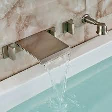 waterfall faucets for bathtub brushed nickel brushed nickel wall mount waterfall faucet waterfall bathtub faucet brushed nickel a5485