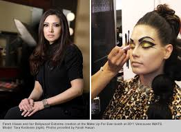 top makeup graduate and instructor farah hasan
