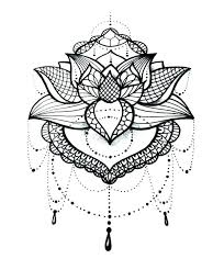 Cool Mandala Coloring Pages Lotus Tattoo Design Flower Printable
