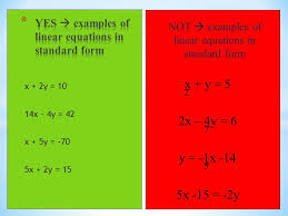 5 6 standard form of a linear equation ppt