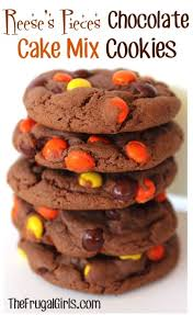 reese s pieces chocolate cake mix cookie recipe the frugal s