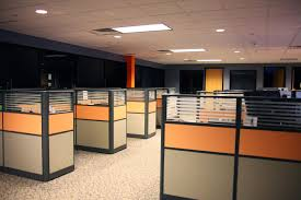small office cubicle small. Modern Office Cubicle Layout Design : Wonderful Floor With Fancy Gray And Orange Small G