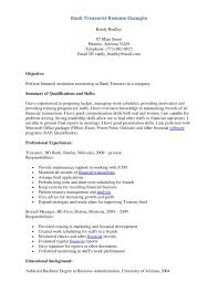 Sample Resumes For Banking Positions Beautiful Bank Resume Format
