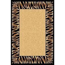 yazd cream black 2 ft x 4 ft indoor area rug