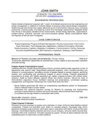 Professional Engineer Resume Template core competencies