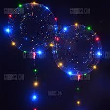 String Light Balloon Transparent Balloon Shining Led String Light